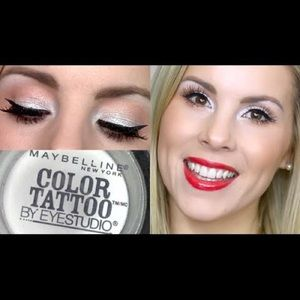 Maybelline eye color tattoo in silver